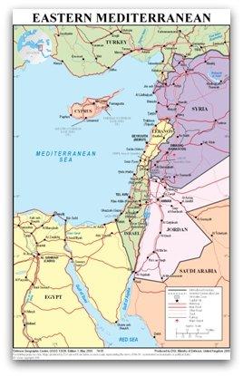 Eastern Mediterranean Map Of Cyprus
