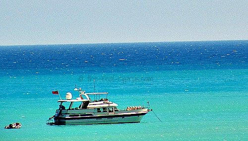 Beautiful Boat On Turquoise Water