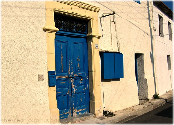Old Town Larnaca Blue Doors