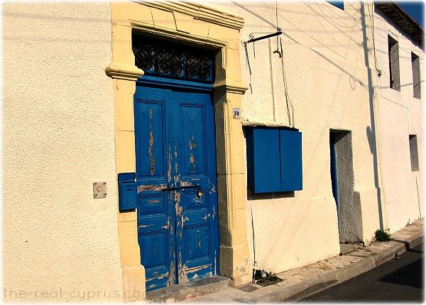 Old Town Larnaca Blue Doors