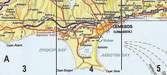Erimi Village Map